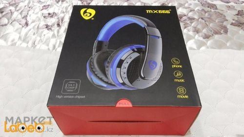 Bluetooth Stereo Headphones - Bluetooth 4.0 - blue - MX666 Model