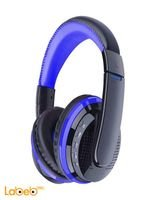 سماعة رأس ستيريو لاسلكية بلوتوث 4.0 لون ازرق موديل MX666