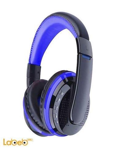 سماعة رأس ستيريو لاسلكية - بلوتوث 4.0 - لون ازرق - موديل MX666