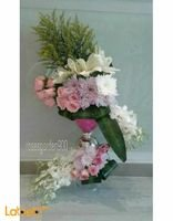 Natural flowers vaze with base Purple Pink and White colors