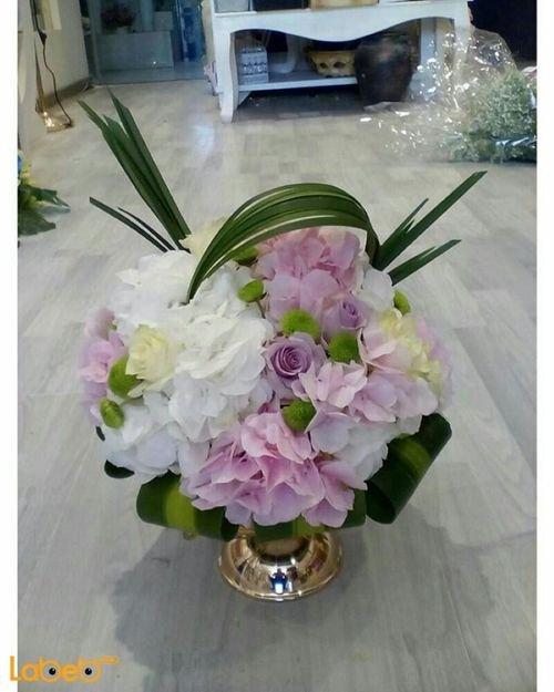 Artificial flowers bouquet White and Pink