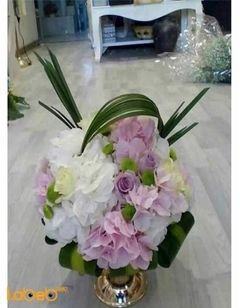 Artificial flowers bouquet - White and Pink colors