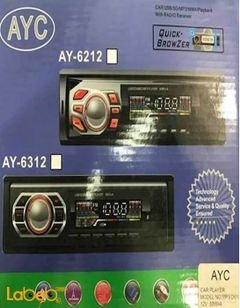 مسجل سيارة AYC - منفذ يو اس بي - لون اسود - موديل AY-6312