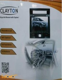شاشة للسيارة Clayton - واي فاي - تعمل باللمس - لون اسود - LC10