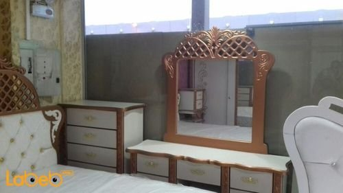 Bedroom 7 pieces Malaysian Wood Copper & white