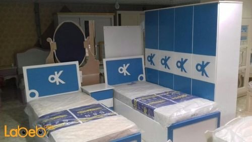 Boys bedroom 8 pieces Malaysian wood Blue and white color