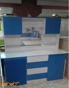 غرفة نوم اطفال للأولاد - 8 قطع - خشب ماليزي - لون أبيض وأزرق