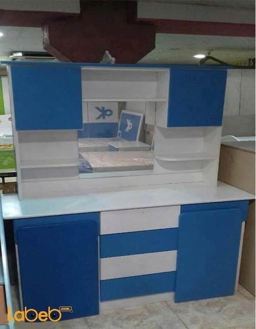 غرفة نوم اطفال للأولاد 8 قطع خشب ماليزي لون أبيض وأزرق