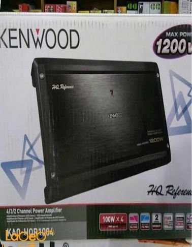 مضخم صوت كينوود - قدرة 1200 واط - أسود - موديل KAC-HQR1004