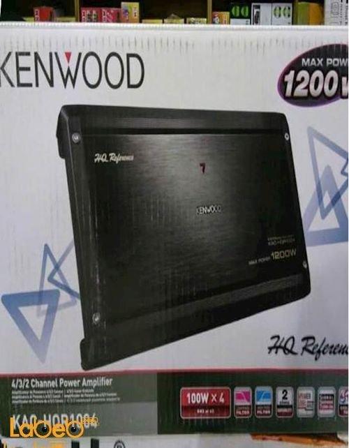 مضخم صوت كينوود قدرة 1200 واط أسود موديل KAC-HQR1004