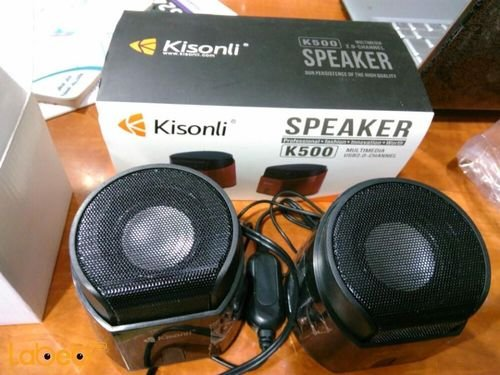 Kisonli computer multimedia speaker Black color K500 Model