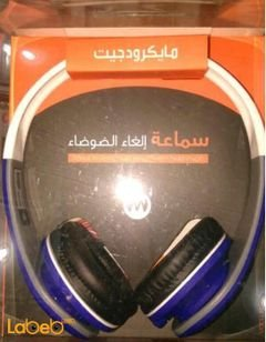 Microdigit noise canceling headphone - Blue color - MD881 model