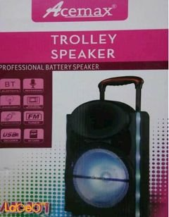 Acemax trolley speaker - USB/AUX Port - Black color - AM_201