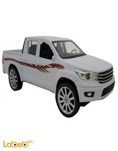 Model car Hilux Double Cab pickup - White - Remote control
