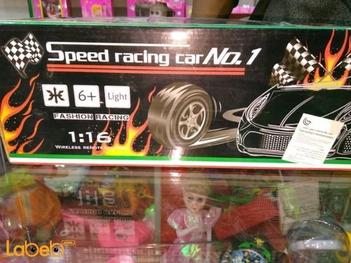 SPeed racing car No.1 remote control Yellow NS599_3/5