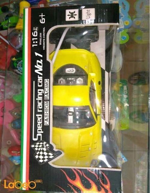 سيارة سباق SPeed racing car No.1 تحكم عن بعد لون أصفر NS599_3/5