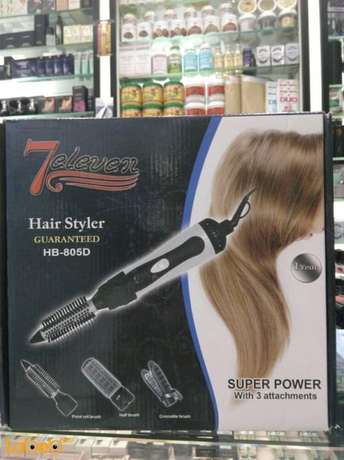 7eleven hair styler 900Watt Black HB_805D model
