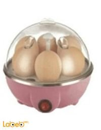 ماكينة لسلق البيض قدرة 250-350 واط 7 بيضات لون زهري