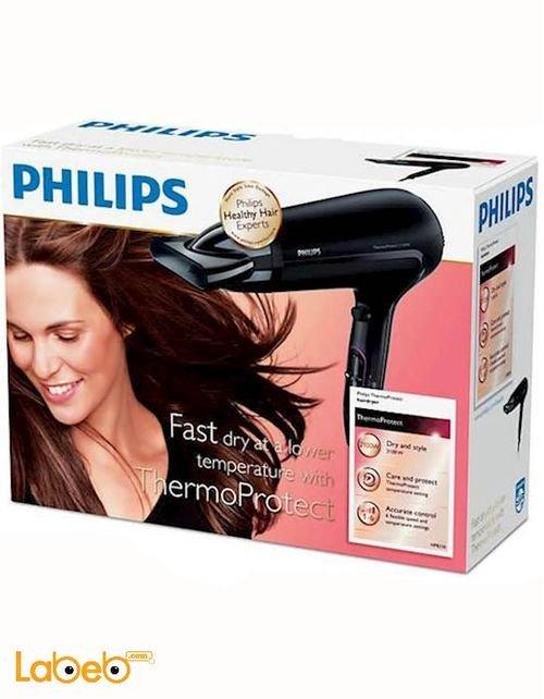 مجفف الشعر فيلبس 2100 واط لون أسود موديل HP-8230