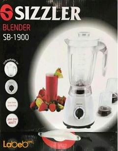 خلاط Sizzler - مطحنتين - 350 واط - لون أبيض - SB-1900