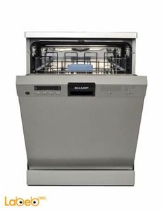 Sharp dishwasher - 12 seats - 6 program - Silver color - QWV634X