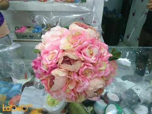 Bride handle from Artificial flowers Pink color