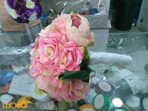Bride handle designed from Artificial flowers Pink color