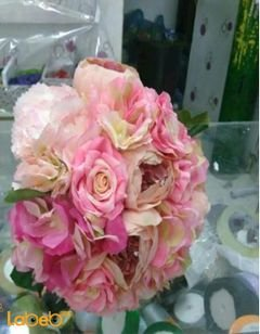Bride handle - designed from Artificial flowers - Pink color