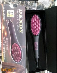 Dandy fast hair straightener - 40W - 230C - Black and Pink