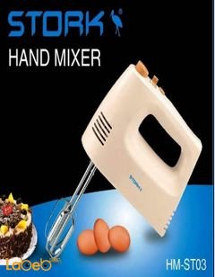 STORK Hand Mixer - 4 Pieces - 250 Watt - White Colour - HM-ST03 Model