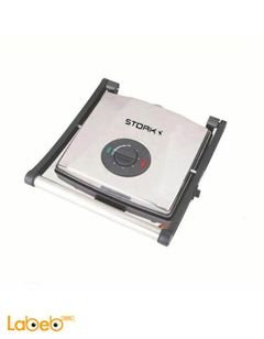 STORK Family Sandwich Press - 1400 W - Silver Colour - GR-ST499 Model