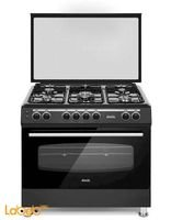 ODUL Turkish Gas Oven Size 90*60cm 5 Burners Black Colour