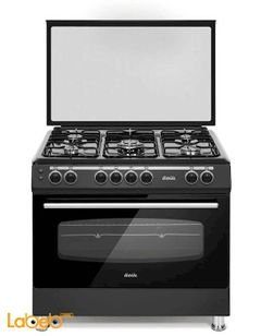 ODUL Turkish Gas Oven - Size 90*60 cm - 5 Burners - Black Colour