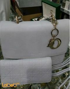 Christian Dior bag - gray color - with wallet - golden accessory