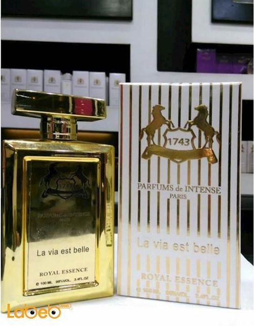 La Via est belle 1743 perfume for women 100ml capacity Gold French