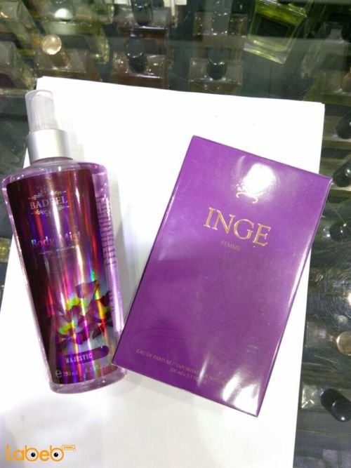 INGE perfume 100ml Majestic Body mist 250ml For women Pink