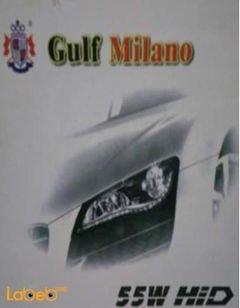 ضوء سيارة زينون Gulf Milano - قدرة 55 واط - مناسب لجميع السيارات