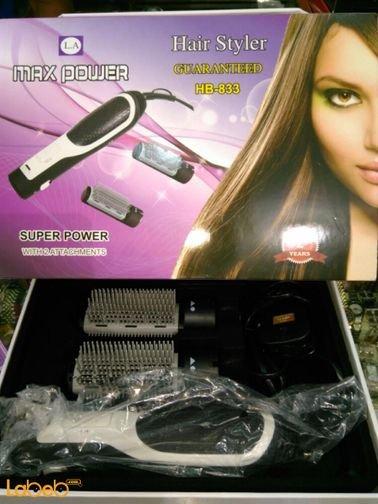 Max power hair styler 1000Watt Black color HB_833 model