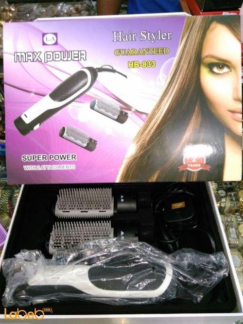 Max power hair styler 1000Watt Black color HB_833