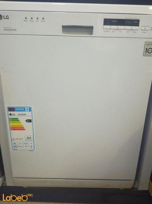 جلاية ال جي سعة 14 طقم لون أبيض موديل D1452WF