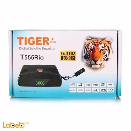 ريسيفر تايجر موديل T555 Rio فل HD منفذ يو اس بي 4000 قناة
