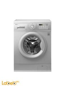 LG Front Load Washing Machine - 7Kg - 1000rpm - Silver - FH0B8QDP5