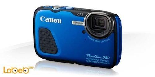 كاميرا كانون رقمية مقاومة للماء لون أزرق PowerShot D30