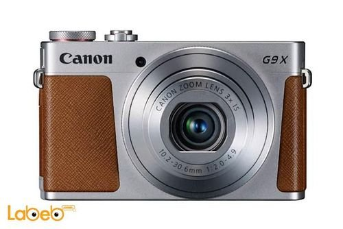 كاميرا كانون الرقمية حجم 3 بوصة لون فضي موديل PowerShot G9X
