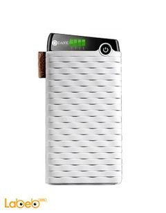 Dany Power Bank - 10000mAh - 2xUSB ports - White - PB-106