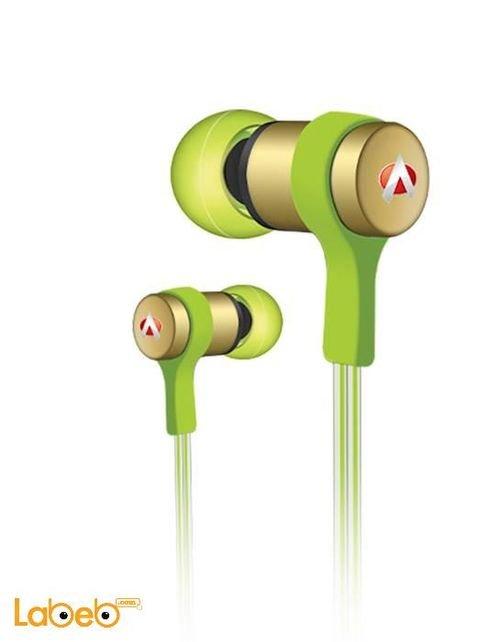 سماعة أذن Audionic السلك 1.2م لون أخضر Earphone Loop-LT-113