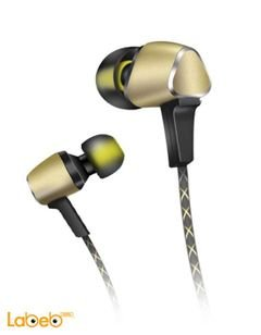 Audionic Earphone Panache - 1.2m length - Yellow - LT-108