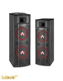 Audionic 2.0 Channel Speaker DJ Series - 130Wx2 - Black - DJ-1500