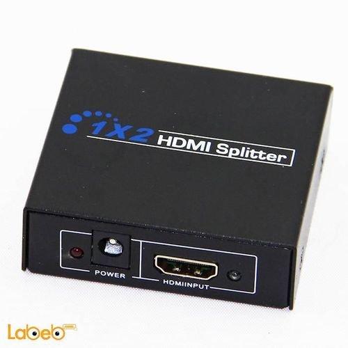 موزع HDMI 1.4 موزعين HDMI وضوح 1080 بكسل 3D أسود