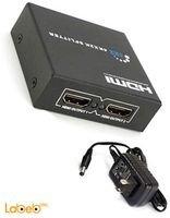 1x2 HDMI Splitter VER 1.4 1080P 3D 4 port LED Black
